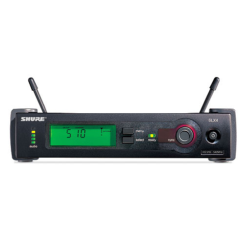 Shure SLX4-G4 Wireless Diversity Receiver with PS21US Power Supply, 1/4 Wave Antenna, and Rack Mounting Hardware