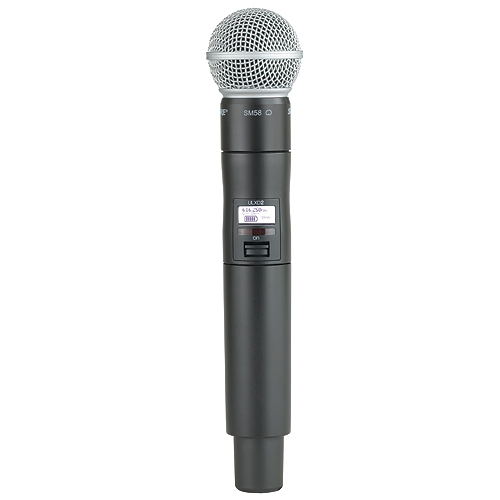Shure ULXD2/SM58-G50 Wireless Handheld Transmitter with SM58 Microphone, G50 Frequency