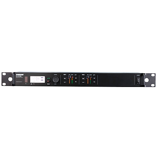 Shure ULXD4D-G50 Dual Digital Wireless Receiver with internal power supply, G50 Frequency