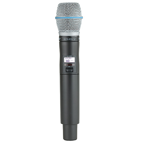 Shure ULXD2/B87A-G50 Wireless Handheld Transmitter with BETA 87A Microphone, G50 Frequency
