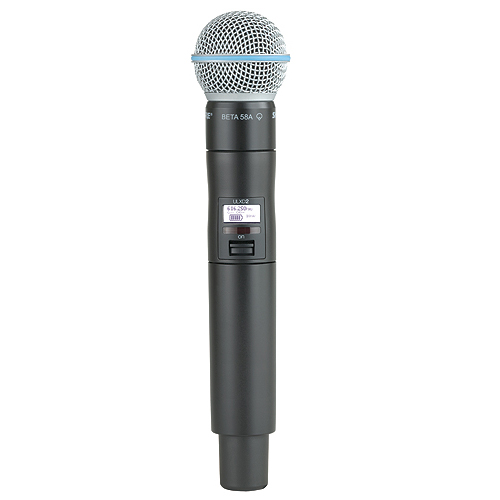 Shure ULXD2/B58-G50 Wireless Handheld Transmitter with BETA 58A Microphone, G50 Frequency