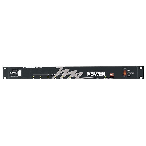 Middle Atlantic PDS-615R, Rackmount Power Sequencer, 6 Outlet, 15A, 6-Step Sequencing