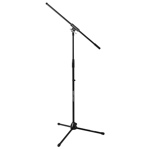 JamStands JS-MCFB100 Tripod Mic Stand with Fixed-Length Boom, Black