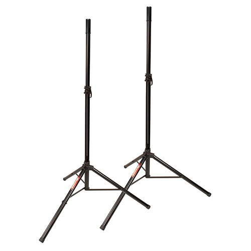 JamStands JS-TS50-2 Pair of Tripod Speaker Stands with FREE Carrying Bag, Black