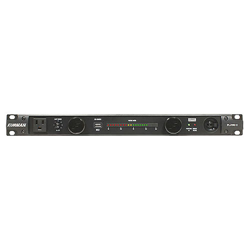 Furman PL-PRO C 20A Advanced Power Cond/Lights W/SMP & Voltmeter, 9 Outlets, 1RU, 10Ft Cord