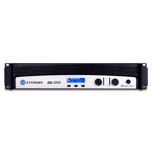 Crown DSi2000 Two-channel Cinema Power Amplifier with DSP and JBL ScreenArray® system presets.