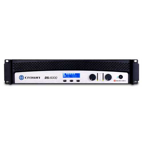 Crown DSi6000 Two-channel Cinema Power Amplifier with DSP and JBL ScreenArray® system presets.