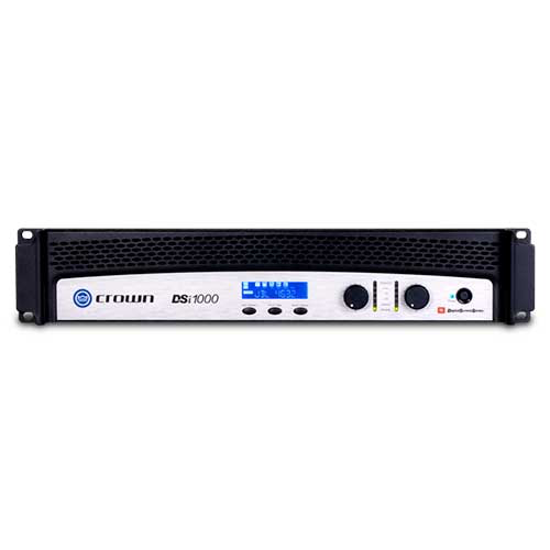 Crown DSi1000 Two-channel Cinema Power Amplifier with DSP and JBL ScreenArray® system presets.