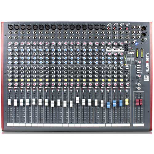 Allen & Heath ZED-22FX USB Mixer with Effects, 22 Channel Multipurpose Mixer