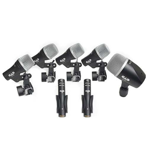 CAD Audio STAGE7 7-piece Drum Microphone Pack - three D29, two C9, one D19, one D10