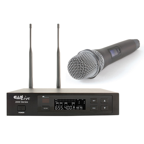 CAD Audio WX3000 UHF Wireless Cardioid Dynamic Handheld Microphone System w/D90 Capsule