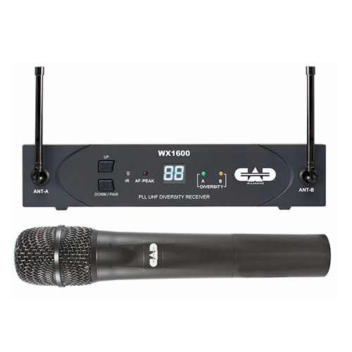 CAD Audio WX1600 UHF Wireless Cardioid Dynamic Handheld Microphone System 638.125MHz- 662 MHz