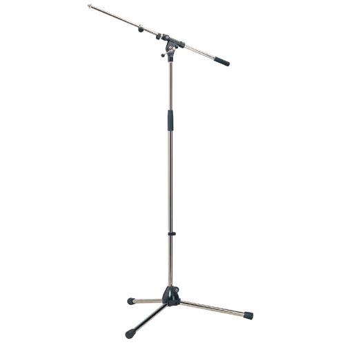 K&M 21090-500-55 Heavy Duty Tripod Microphone Stand 2-Piece, Black