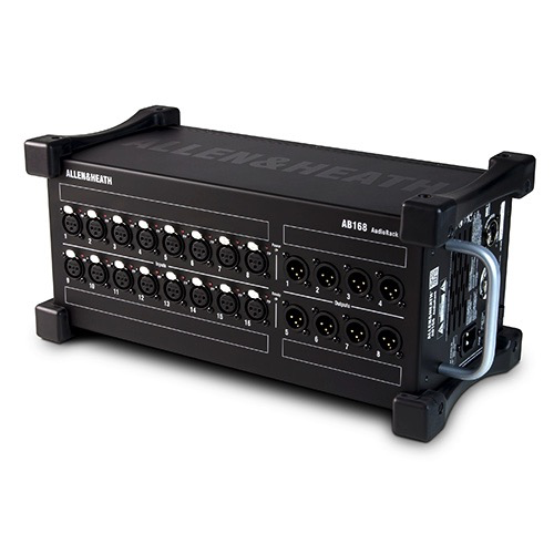 Allen & Heath AB-168 Remote Audio Rack/Portable Stage Box for GLD digital mixing system.