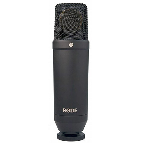 "Rode Microphones NT1 Kit All new fixed cardioid 1"" condenser microphone with only 4.5dBA of self noise. Package includes NT1 and SMR shock mount."