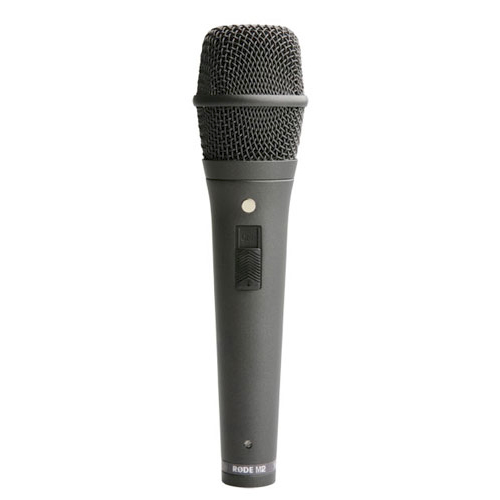 Rode Microphones M2 Live performance super cardioid condenser microphone. Locking on/off switch.