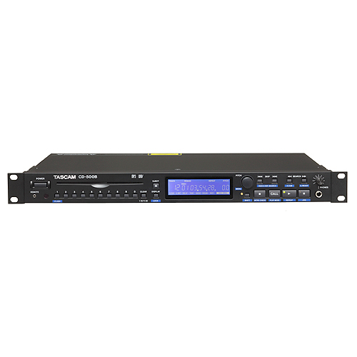 Tascam CD-500B Pro Single Space CD Player with Balanced Outs