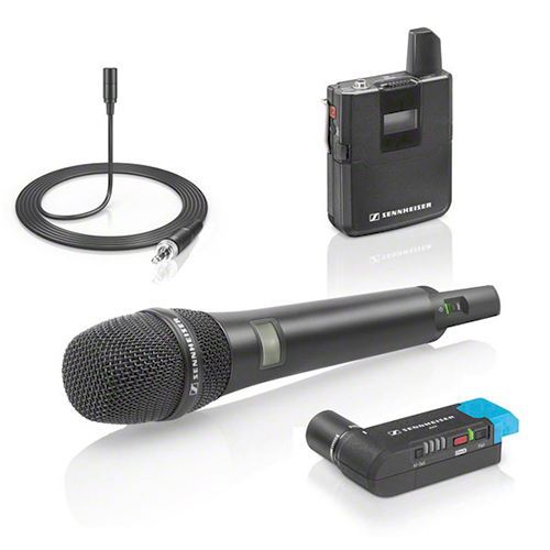 Sennheiser AVX-COMBO SET-4-US Combo system with both handheld and bodypack transmitters for film projects