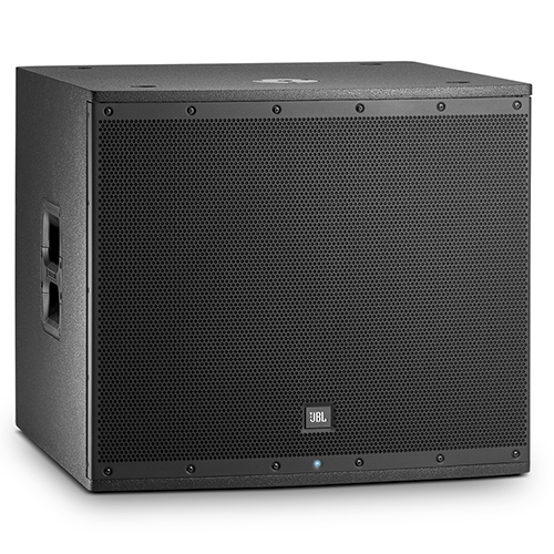 "JBL EON618S Powered 18"" subwoofer, 1000W class D ampflier with maximum 132dB SPL, Bluetooth control."