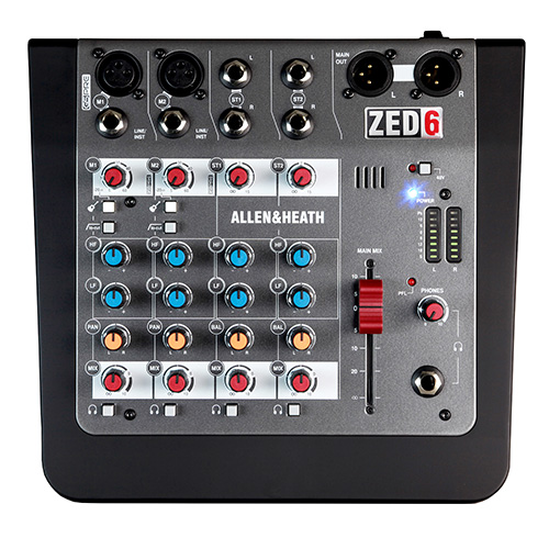 Allen & Heath ZED-6 Compact 6 input analog mixer
