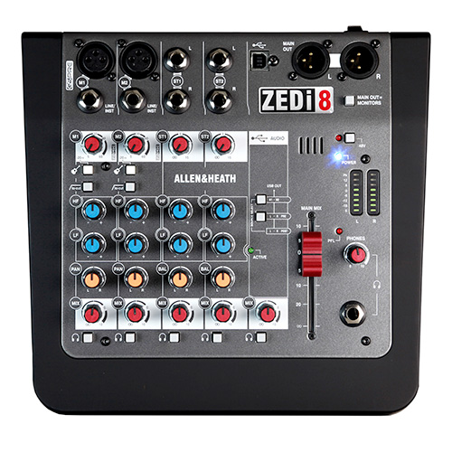 Allen & Heath ZEDi-8 Hybrid Compact Mixer with 2x2 USB Interface