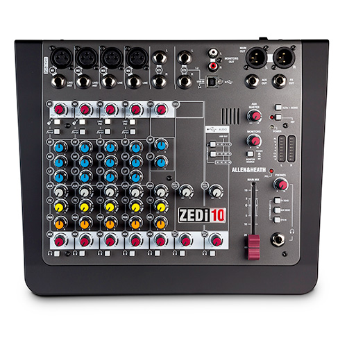 Allen & Heath ZEDi-10 Hybrid Compact Mixer with 4x4 USB Interface