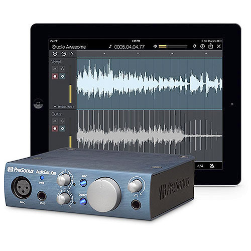 PreSonus AudioBox iOne 2x2 USB 2.0 / iPad Recording Interface w/ 1 mic input