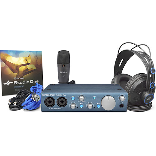PreSonus AudioBox iTwo Studio AudioBox iTwo, HD7 Headphones, M7 Mic, S1 Artist