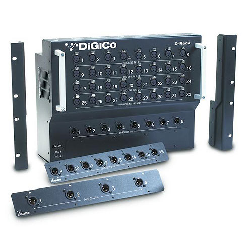 DiGiCo X-D-RACK-2 D-Rack: Floor Mount 32 In, 16 Out Stage Box