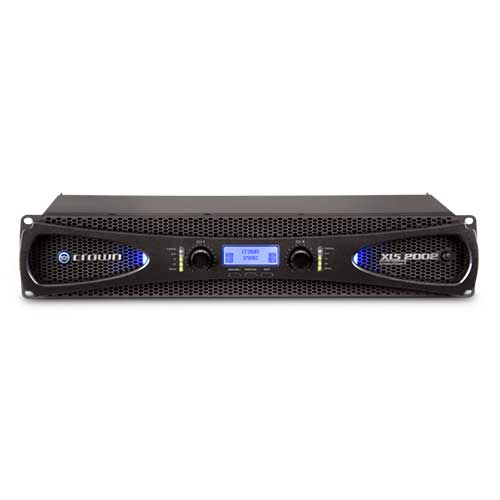 Crown XLS 2002 DriveCore 2 Series Two-channel Power Amplifier with larger LCD display and more DSP
