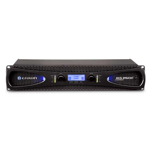 Crown XLS 2502 DriveCore 2 Series Two-channel Power Amplifier with larger LCD display and more DSP