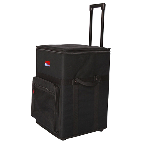 Gator GPA-720 Powered Mixer Case, Nylon-Covered Wood with Wheels and Handle