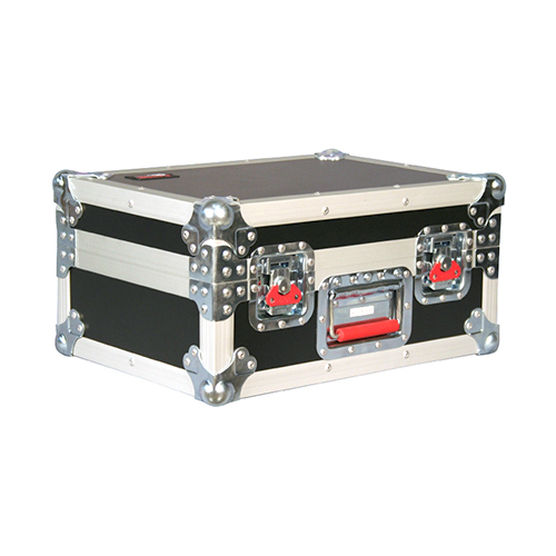 Gator G-TOUR M15 ATA Wood Flight Case With Drops for 15 Mics, Recessed Latches, Cable Storage