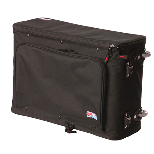 Gator GR-RACKBAG-2UW 2U Lightweight rolling rack bag with retractable tow handle, aluminum frame and PE reinforcement