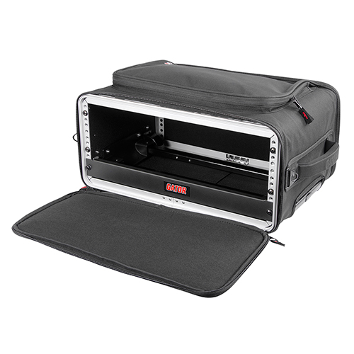 Gator GR-RACKBAG-3UW 3U Lightweight rolling rack bag with retractable tow handle, aluminum frame and PE reinforcement