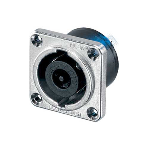 Neutrik NL8MPR 8-Pin Male SpeakOn Receptacle Round Flange