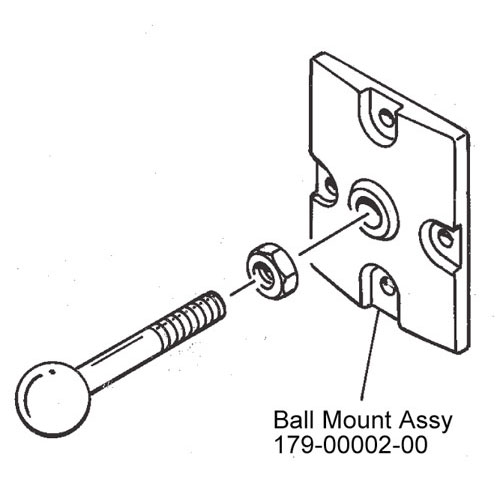 JBL 179-00002-00 CONTROL 25/28 Black Invisiball Assembly