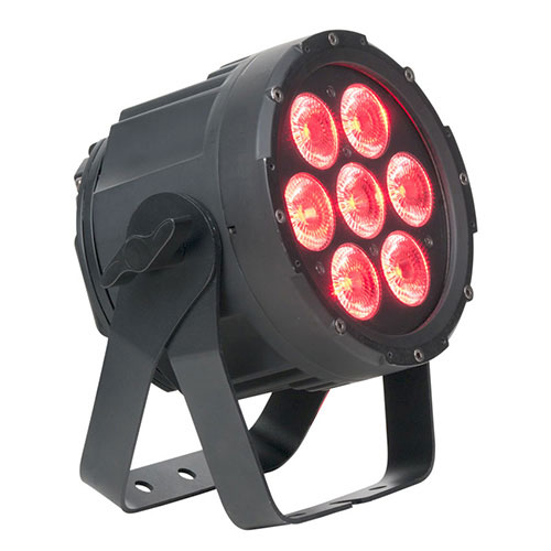 Elation SIXPAR 100IP features 7-12W 6-IN-1 RGBAW+UV LEDs