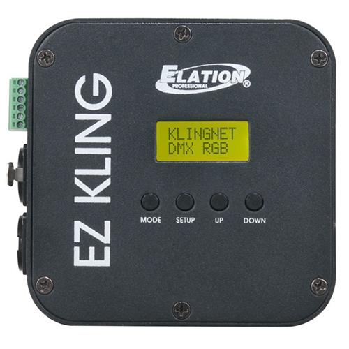 Elation EZ KLING RJ45 to DMX,  interface, which allows you to pixel map KlingNet™ and DMX compatible fixtures