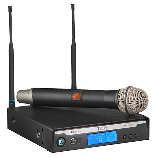 Electro-Voice R300-HD-C Handheld System with PL22 in case, Frequency C-516.000 MHz