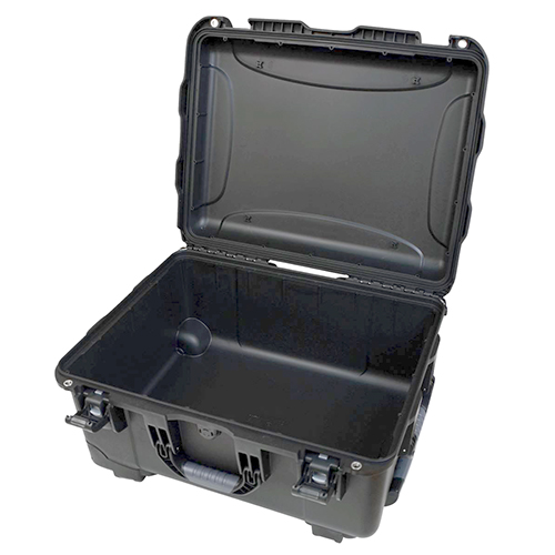 Gator GU-2015-10-WPNF Black injection molded case with pullout handle and inline wheels. NO FOAM