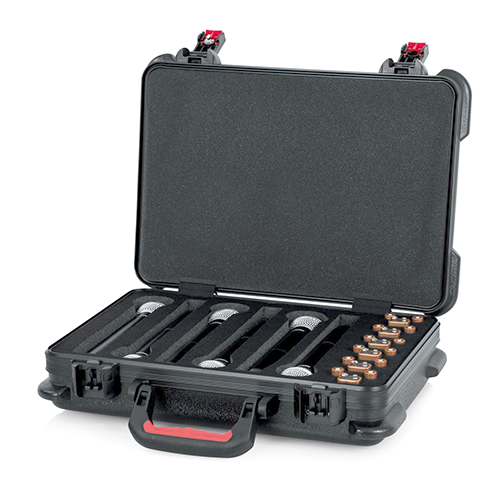 Gator GTSA-MICW6 TSA Series ATA Molded Polyethylene Case for Foam Drops for 6-Wireless Microphones with Battery Storage