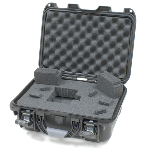 Gator GU-1309-06-WPDF Black waterproof injection molded case, DICED FOAM