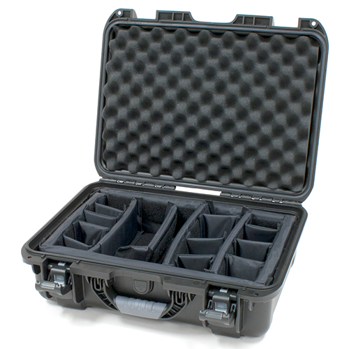 Gator GU-1711-06-WPDV Black waterproof injection molded case with INTERNAL DIVIDER SYSTEM