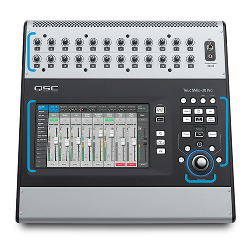 QSC TOUCHMIX-30 PRO Touch-screen digital audio mixer with 32 imputs