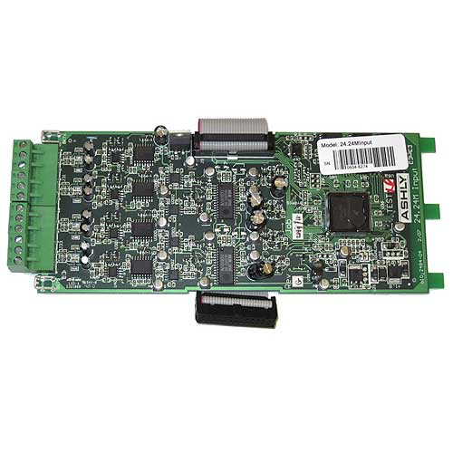 Ashly ne24.24M Input 4-Input Card for NE24.24M Protea DSP Audio Matrix Processor (Boxed)