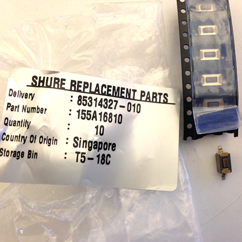 Shure 155A16810 PGX/SLH Handheld Transmitter Switch