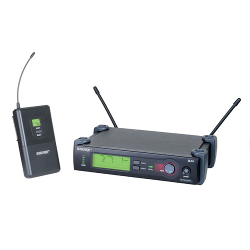 Shure SLX14-H5 Wireless Bodypack system with WA302 Instrument Cable. Frequency H5  518-542 MHz