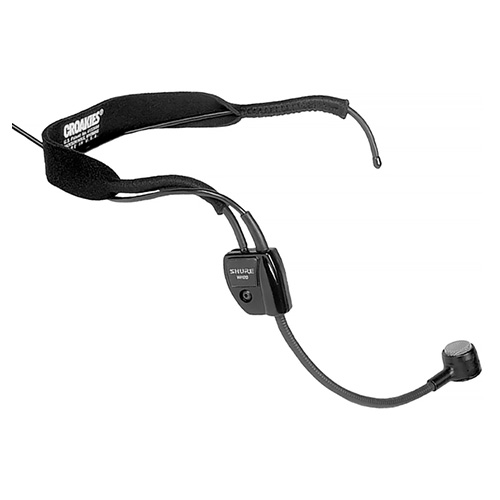 Shure WH20XLR Headworn Cardioid Dynamic Microphone with 4' Cable and XLR Connector with belt clip