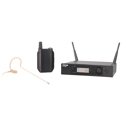 Shure GLXD14R/MX53-Z2 Digital Wireless System with MX153 Headworn Earset Microphone, Z2 Band 2.4 GHz